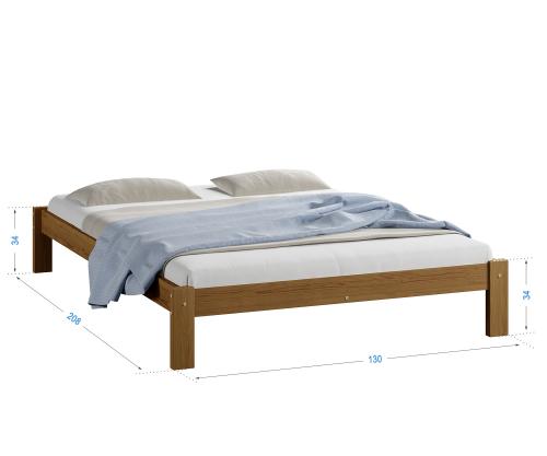 Luisa fenyő ágy 120x200 tölgy