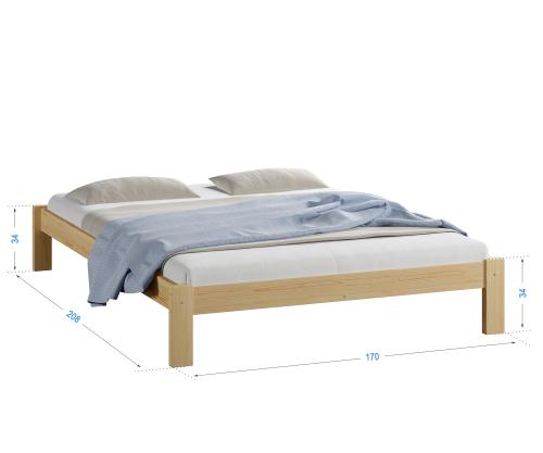 Luisa tömör fenyő ágy 160x200