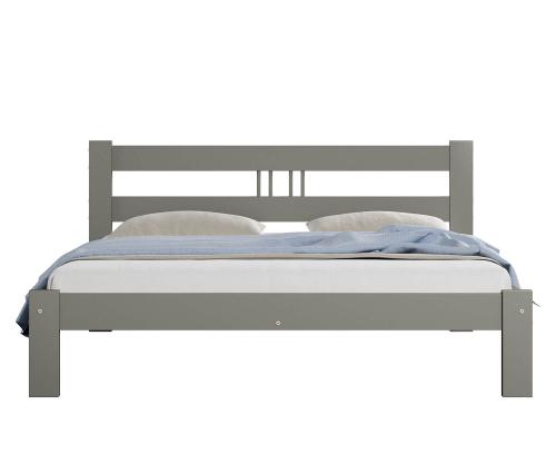 Virginia tömör szürke ágy  120x200