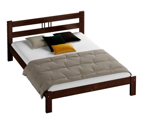 Virginia fenyő ágy 120x200 dió