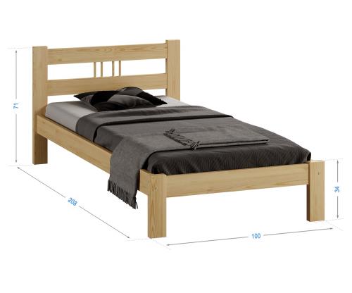 Virginia tömör fenyő ágy  90x200