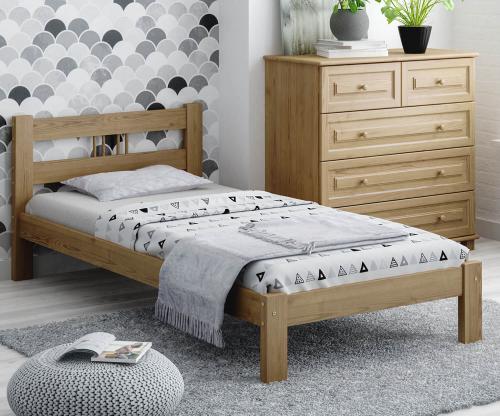 Virginia fenyő ágy 90x200 tölgy