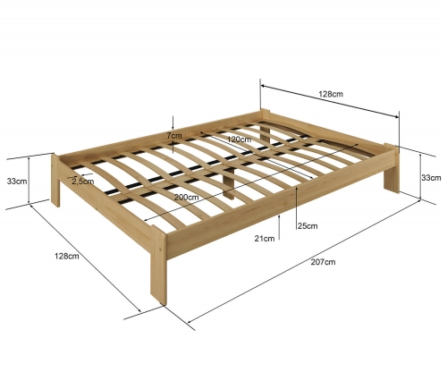 Adéla ágy fenyő 120x200cm