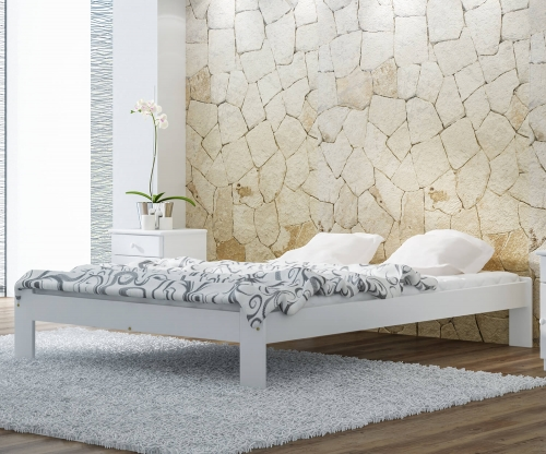 Adéla ágy tömör fenyő 140x200cm fehér