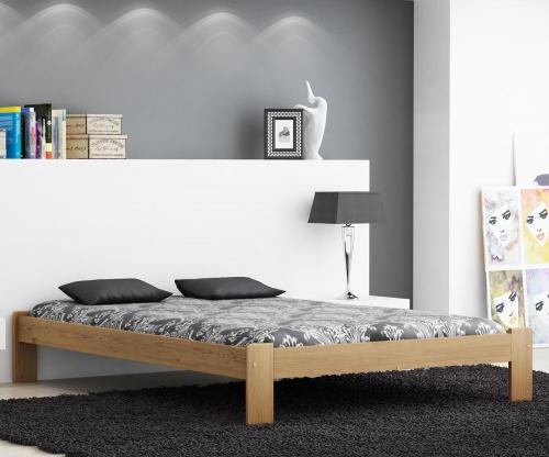 MAGNAT ADA ágy 140x200 ágyráccsal - tömör fenyő/festés tölgy