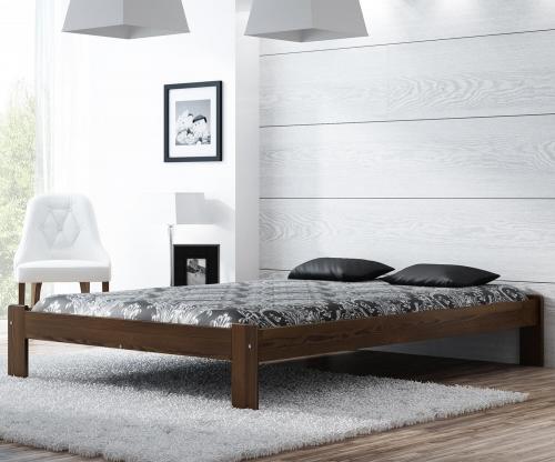 MAGNAT ADA ágy 140x200 ágyráccsal - tömör fenyő/festés dió