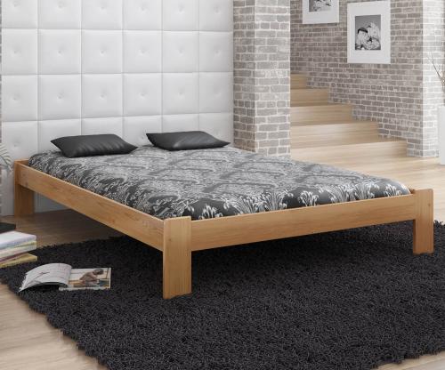 MAGNAT ADA ágy 140x200 ágyráccsal - tömör fenyő/festés éger