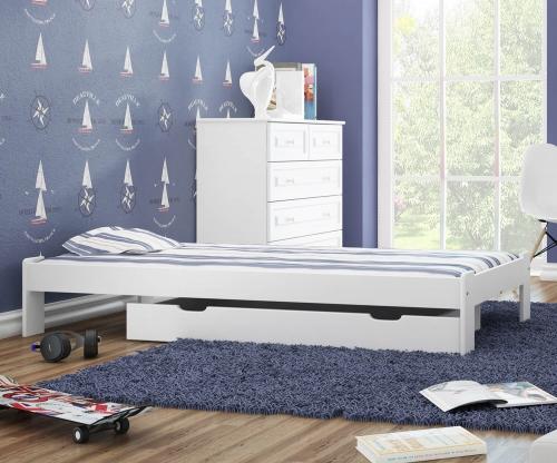 Adéla ágy tömör fenyő 90x200cm fehér