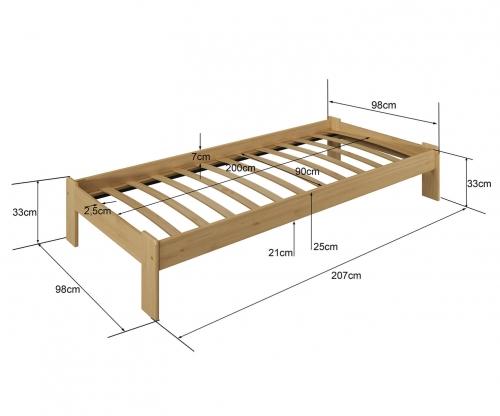 Adéla ágy éger 90x200cm