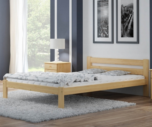 Akio VitBed fenyő ágy 160x200cm lakkozás nélkül
