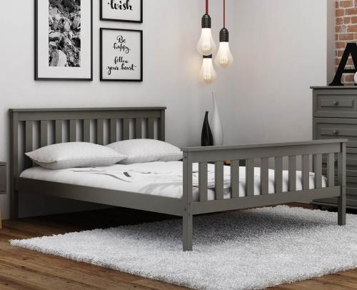 Szürke fenyőfa ágy Naxter 90x200