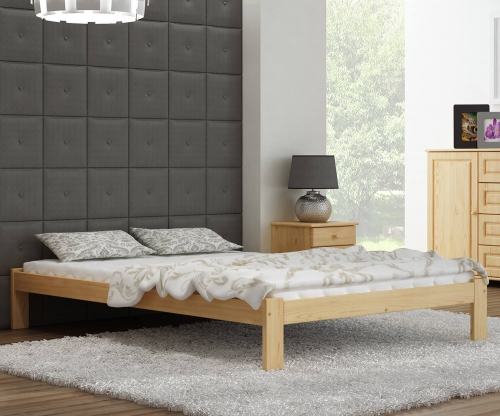Anzu VitBed fenyő ágy 160x200cm lakkozás nélkül
