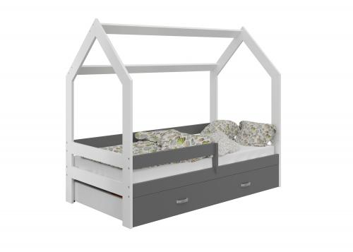 HÁZIKÓ D3 gyerek ágy 80x160cm tömör fehér