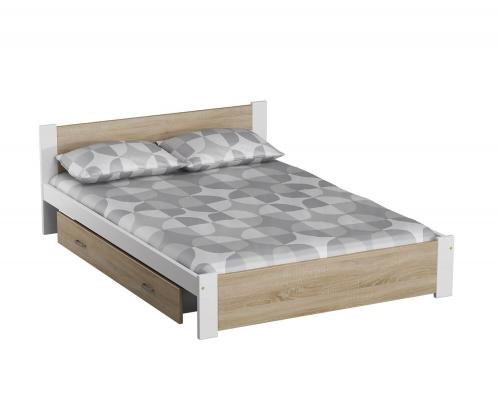 DMD3 ágy 90x200cm fehér + sonoma tölgy