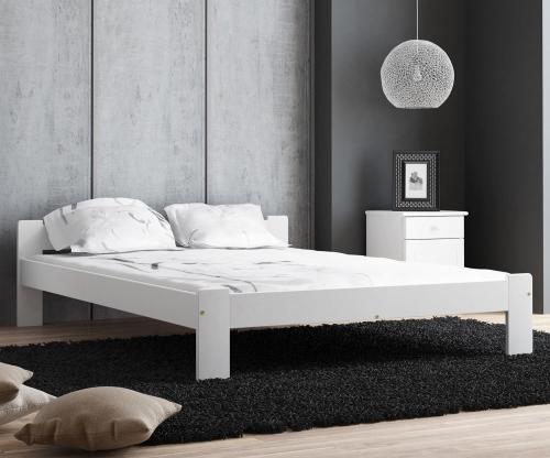 MAXI-DREW Anetka ágy 140x200 - tömör fenyő feher