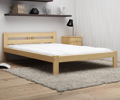 ESM1 nem lakkozott fenyő ágy 140x200cm