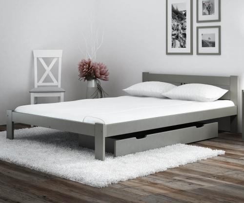 ESM1 fenyő ágy 120x200cm szürke