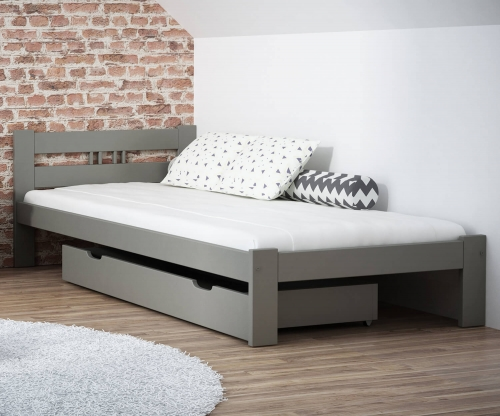 ESM1 fenyő ágy 90x200cm szürke