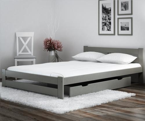 LUX VitBed tömör fenyő ágy szürke 120x200cm