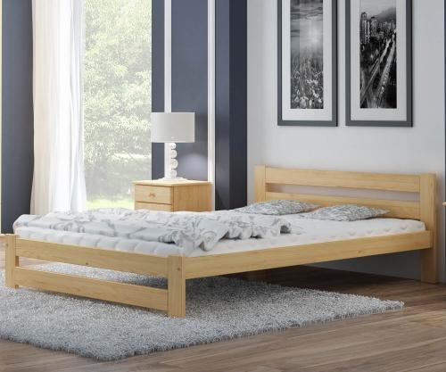 Eureka VitBed fenyő ágy 120x200cm lakkozás nélkül