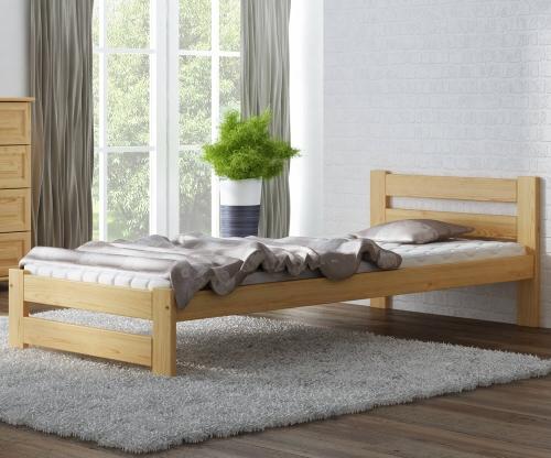 Eureka VitBed fenyő ágy 90x200cm lakkozás nélkül