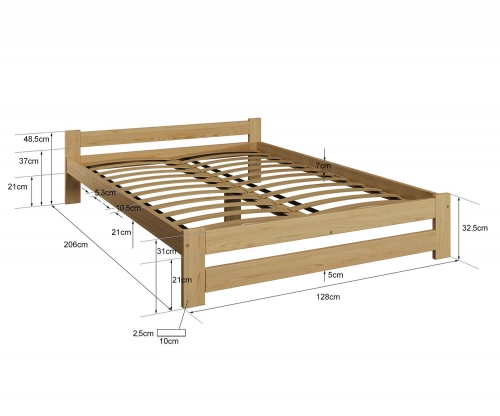 Ran VitBed fenyő ágy 120x200cm