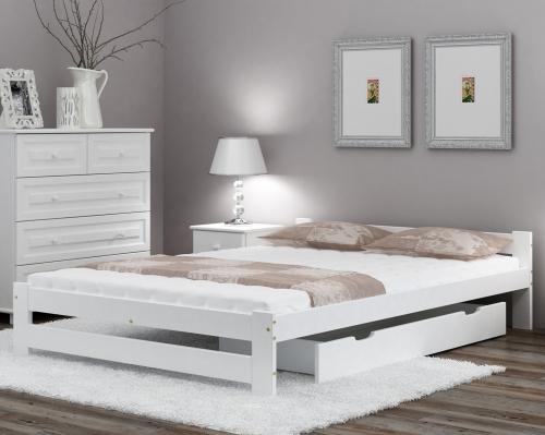 Ran VitBed fehér fenyő ágy 140x200cm