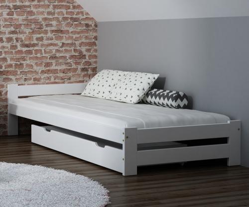 Ran VitBed fehér fenyő ágy 90x200cm