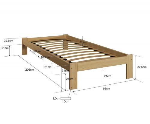 Anzu VitBed ágy 90x200cm dió