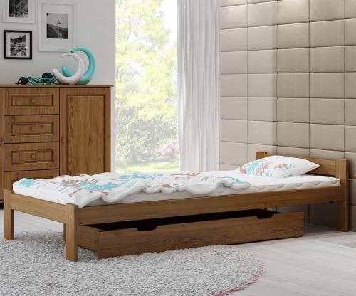 Isao VitBed ágy tölgy 90x200cm + Matrac Heka 90x200