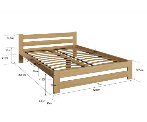 Eureka VitBed ágy 120x200cm tölgy