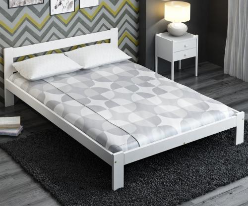Akio VitBed ágy 140x200cm tömör fenyő fehér