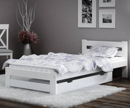 Eureka VitBed ágy 90x200cm tömör fenyő fehér