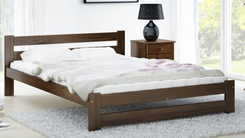MAXI-DREW postel Eureka 180 x 200 cm - masiv borovice/moření ořech