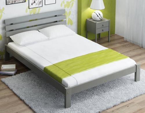Karla tömör szürke ágy 140x200