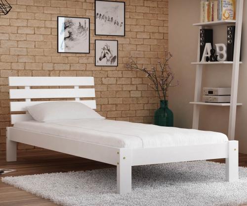 Karla tömör fehér ágy  90x200