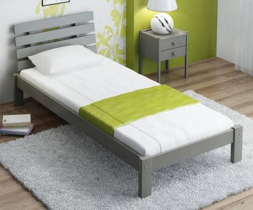 Karla tömör szürke ágy  90x200