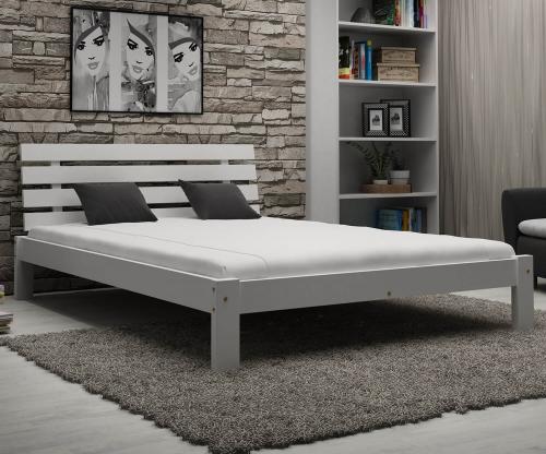 Karla tömör fehér ágy 140x200