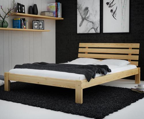 Karla tömör fenyő ágy  140x200