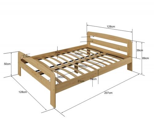 Nastenka ágy 120x200 éger