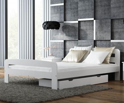 Nastenka ágy 140x200 tömör fenyő fehér