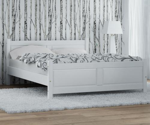 Lena fenyő ágy 160x200 fehér