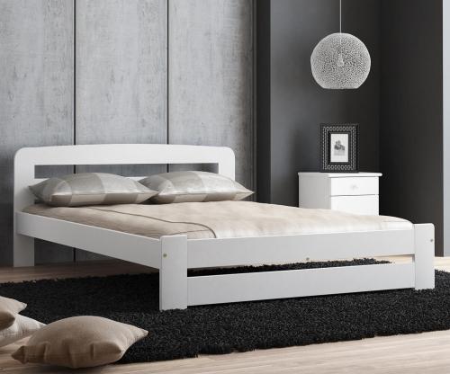 Sasa ágy 140x200 tömör fenyő fehér