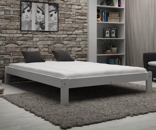 Luisa tömör fehér ágy 120x200