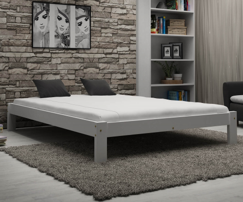 Luisa tömör fehér ágy 140x200