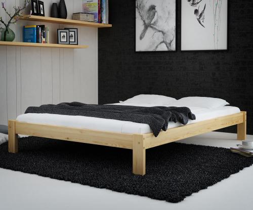Luisa tömör fenyő ágy 140x200
