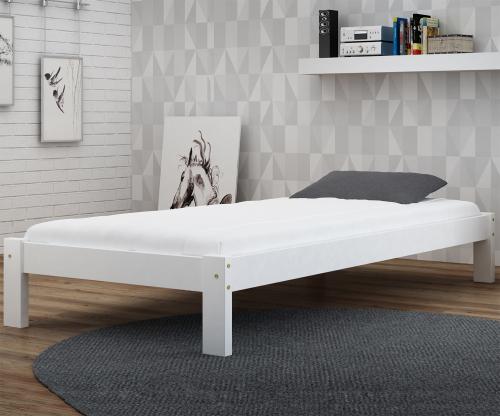 Luisa tömör fehér ágy 90x200