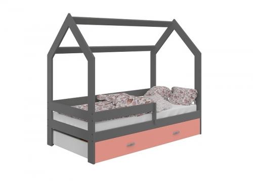 HÁZIKÓ D3 gyermek ágy 80x160cm tömör szürke