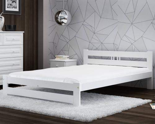 LUX VitBed tömör fenyő ágy fehér 140x200cm