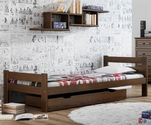 Kenta VitBed ágy 90x200cm dió
